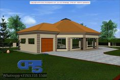 Overall Dimensions- 1 Car GarageArea- Square metres Round House Plans, My House Plans, Model House Plan, Paint Colours, Dream Houses, New Homes, Corner, Challenges, Exterior