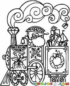 dibujo del tren de papa noel para colorear colorear dibujos de navidad dibujo del