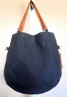 Simple Waxed Canvas Tote by snootsie, via Etsy.