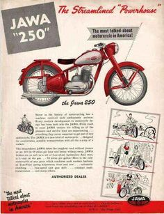 Jawa Motorcycle reintroduce by Mahindra Vintage Advertising Posters, Old Advertisements, Advertising Ads, Bike Poster, Motorcycle Posters, Classic Motors, Classic Bikes, Classic Motorcycle, Vintage Bikes