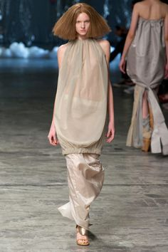 Rick Owens Spring 2013  The top resembles a longer doric chiton with the top having the overfold.