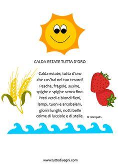 Estate - Filastrocca per bambini - TuttoDisegni.com