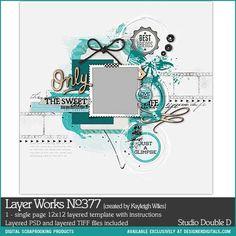 Layer Works No. 377- Studio Double-D Templates- LT134733- DesignerDigitals