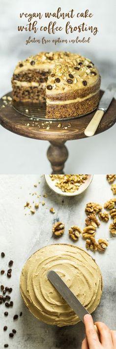 #vegan #walnutcake #dairyfree #eggfree #glutenfree #healthy #desssert #treat #coffee #cashewfrosting