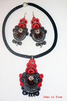 Kolczyki sutasz - Flamenco - Neko-No-Yume - Kolczyki długie