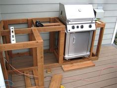 outdoor barbecue grill area on deck - Google Search