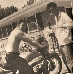 Elvis and Billy Smith (Elvis' first cousin). Billy was one of the first members of the Memphis Mafia who accompanied Elvis from 1956 until his death.