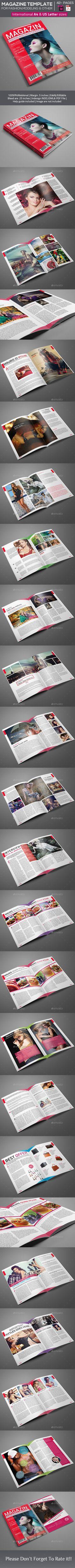 Magazine Template   #magazinetemplate   Download: http://graphicriver.net/item/magazine-template-/10061194?ref=ksioks