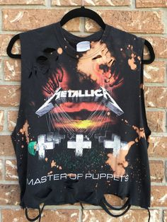 Metallica Bleached distressed bleached band tee by Cranberrymoons