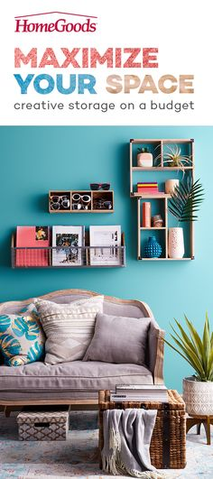 Add personality and purpose to any small space with creative storage solutions. Find wall units, shelving, baskets and multi-functional furniture that are big on style and easy on the budget. Check…More Furniture For You, Home Furniture, Multifunctional Furniture, Small Space Storage, Creative Storage, My Living Room, Apartment Living, Home Remodeling, Small Spaces