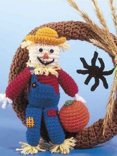 Free scarecrow wreath crochet pattern!!