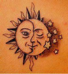 coole tattoos ideen sterne tattoo bedeutung mond sonne