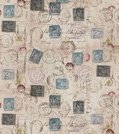 Premium Quilt Fabric- Tim Holtz Correspondence Taupe