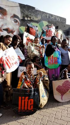 Vivienne Westwood designed a line of bags made out of recycled product in collaboration with the Ethical Fashion Programme. Not only are the bags eco-friendly, but they're providing 7,000 women living in extreme poverty with jobs!