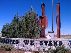 9/11 Memorial in a very small town in AZ, those are actual stanchions from the twin towers.