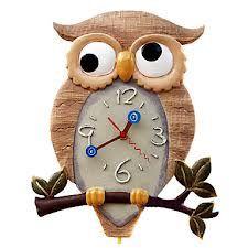 . Owl Clock, Clock Shop, Cartoon Wall, Owl Always Love You, Wood Clocks, Driftwood Art, Cute Owl, Handmade Home, Wood Sculpture