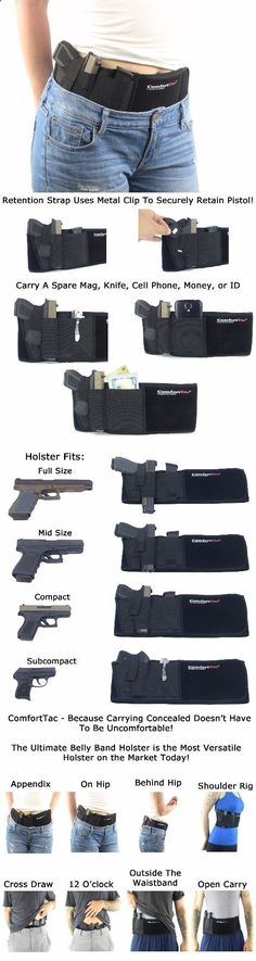Ultimate Belly Band Holster Concealed Carry Black Fits Gun Smith Wesson Bodyguard Glock 19 17 42 43 p238 Ruger lcp Similar Sized Guns Men Women