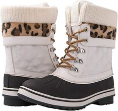 16 styles of chic snow boots for this winter | GLOBALWIN Women's Waterproof Snow Boots | Cute Winter Boots Women White Winter Boots, Warm Boots, Winter Snow Boots, Winter Fashion Boots, Winter Fashion Casual, Casual Winter Outfits, Womens Summer Shoes, Womens High Heels, Cute Snow Boots