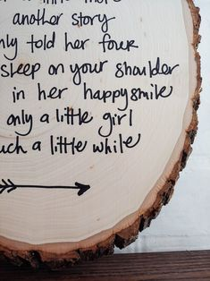 Hold Her A Little Longer Rustic Wood Round Sign for Baby Girl with poem handwritten on rustic wood round sign! Great idea for unique baby shower gift to decorate a baby girl's room. #nursery #walldecor #nurserywalldecor #babygirl Woodland Nursery Girl, Girl Nursery, Woodland Baby, Baby Room Themes, Baby Girl Shower Themes, Baby Boy Shower, Nursery Themes, Nursery Ideas, Little Girl Poems