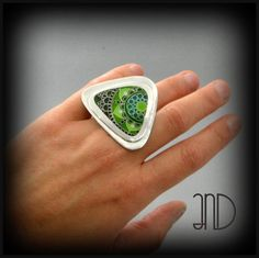 Cloisonne ring. www.facebook.com/ANDcli