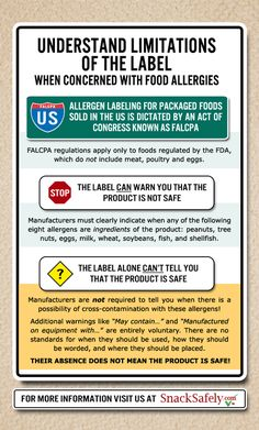 Important reminders about reading ingredient labels and allergen advisories http://www.nutfreewok.com/food-label-reading/