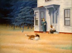 Hopper - Cape Cod Evening, 1939 Hopper painted the way that he talked – few words then a long pause.