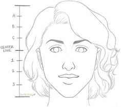 How to draw a female face in 8 steps Realistic Drawings, Art Drawings Sketches, Face Drawings, Web Paint, Popular Paintings, Drawing Exercises, Face Sketch, Cartoon Faces, Woman Face