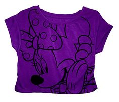 Disney Minnie Mouse Fashion Crop Top Purple (X-Small) @ niftywarehouse.com #NiftyWarehouse #Disney #DisneyMovies #Animated #Film #DisneyFilms #DisneyCartoons #Kids #Cartoons