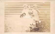 C17/ People Real Photo RPPC Postcard c1910 Hartford City Indiana Pedal Car Kid 8