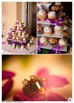 Cupcake tree at a Maui Wedding, Hawaii.
