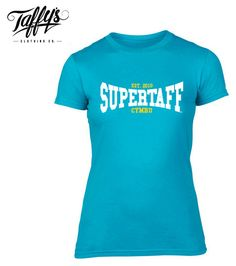 b7aa80e385b Ladies Welsh Supertaff® College T Shirt (BLUE) from Giftware Wales College  T Shirts