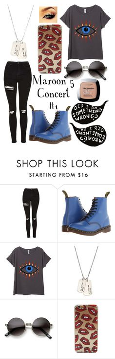 """"""""""" by lhaddock ❤ liked on Polyvore featuring Topshop, Dr. Martens, AnnaBee and L'Oréal Paris"""