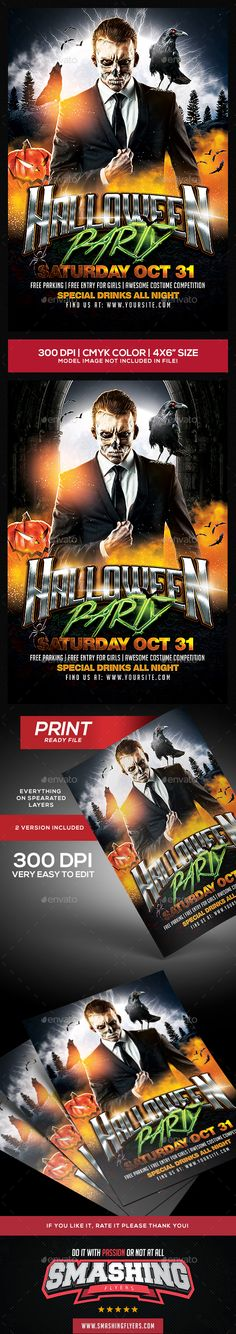 #Halloween Party #Flyer - Clubs & Parties Events