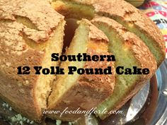 This Southern 12 Yolk Pound Cake is the perfect dessert to make when you have a lot of egg yolks to use. It's not too sweet, but is truly delicious!