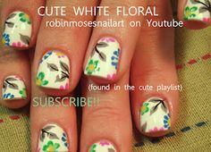 Advertisement easy pastel flowers spring 2012 short nail : robin moses how to paint nail art design tutorial 590 easy pastel flowers spring 2012 short nail : robin moses how to paint nail art design tutorial 590 Green Nails, White Nails, Cute Short Nails, Couture Nails, Easy Nails, Nail Art For Beginners, Easter Nail Art, Flower Nail Art, Nail Flowers