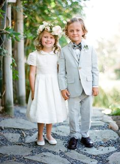 The cutest flower girl + ring bearer duo: http://www.stylemepretty.com/2016/05/23/ethereal-garden-party-style-wedding/ | Photography: Jose Villa - http://josevilla.com/