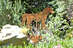 HORSE Metal Copper Garden Outdoor Yard Art Lawn Ornament Rustic Plant Stake Farm Animal Sculpture Barnyard Home Decor Patina Finish #petmemorial #etsyretwt