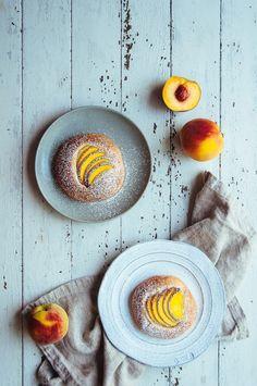 """intensefoodcravings: """" Brown Butter and Peach Brioche Bun Mini Desserts, Delicious Desserts, Dessert Recipes, Pastry Cook, Mini Doughnuts, Bread Art, Dough Ingredients, Cozy Kitchen, Brioche Bun"""