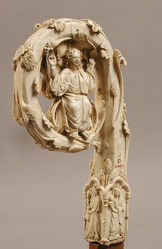 MET MUSEUM Crozier Head Date: ca. 1350–75 Geography: Made in possibly Lombardy, Italy Culture: Italian Medium: Ivory, gilding