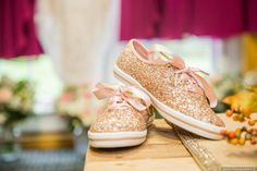 Sparkle flat sneakers + bridal shoes - wedding shoes {Classic Photographers}