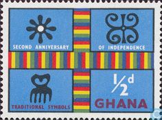 Postage Stamps - Ghana - Symbols