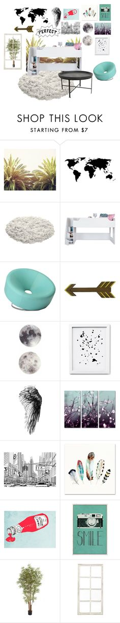 """""""Bedroom"""" by avatak on Polyvore featuring interior, interiors, interior design, home, home decor, interior decorating, South Shore, Trademark Fine Art, Jessica Russell Flint and Nearly Natural"""