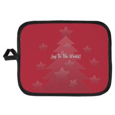Bright Joy to the world  Potholder.