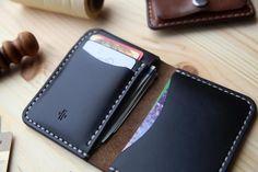 - Premium Full Grain Leather Bi-Fold Engraved Money Clip Men Milk Chocolate Handmade with Traditional Craftsmanship Card Holder Unisex BJJ Jj Dad Women