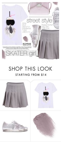 """Skater Girl"" by pokadoll ❤ liked on Polyvore featuring Golden Goose, Obsessive Compulsive Cosmetics, Loeffler Randall and romwe"
