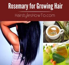 Using Rosemary for Growing Hair Quickly - Effective home remedy for growing your hair faster using a rosemary hair rinse!