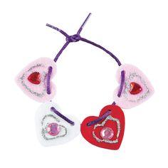 Lacing Heart Bracelets Craft Kit - OrientalTrading.com