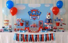 Image result for paw patrol party table setup