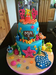 Finding Dory/nemo Mia's 2nd Birthday Cake