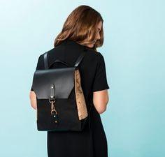 Cork & Leather Backpack in Marble Cork   Spring/Summer 2017 Collection